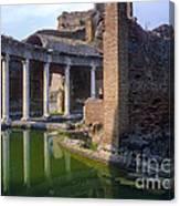 Second Century Villa Of Emperor Hadrian  Canvas Print