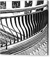 Second Floor In Black And White Canvas Print