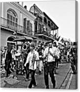 Second Line Parade Bw Canvas Print