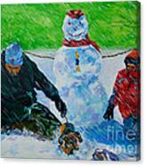 Second Snow Canvas Print