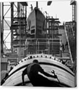 Second World War Submarine Production Canvas Print