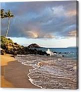 Secret Beach At Sunset Canvas Print