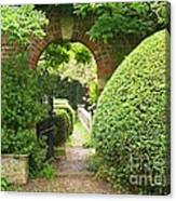 Secret English Garden Canvas Print