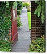 Secret Garden Door Canvas Print