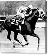 Secretariat Vintage Horse Racing #12 Canvas Print