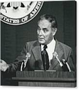 Secretary Haig Holds Press Conference Canvas Print