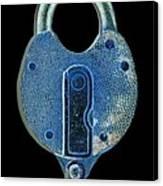 Secure - Lock On Black  Canvas Print