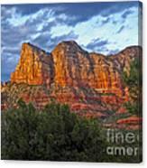 Sedona Arizona Sunset On Mountains Canvas Print