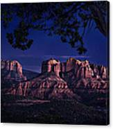 Sedona Cathedral Rock Post Sunset Glow Canvas Print