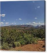 Sedona Panorama In 5 Pictures Canvas Print