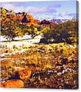 Sedona Winter Painting Canvas Print