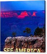 See America - Grand Canyon National Park Canvas Print