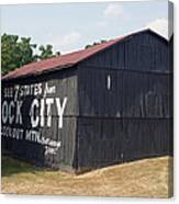 See Rock City Barn Canvas Print