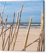 See Through On The Dutch Beach Canvas Print