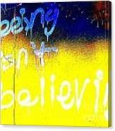 Seeing Isn't Believing Canvas Print
