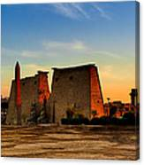 Seeking The Ancient Ruins Of Thebes In Luxor Canvas Print