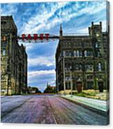 Seen Better Days Old Pabst Brewery Home Of Blue Ribbon Beer Since 1860 Now Derelict Canvas Print