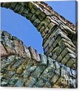 Segovia Aqueduct Arch By Diana Sainz Canvas Print