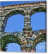 Segovia Aqueducts Blue By Diana Sainz Canvas Print