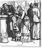 Segregated Saloon, 1875 Canvas Print