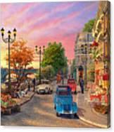 Seine Sunset Canvas Print
