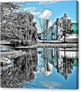 Selective Color Fall Day Canvas Print