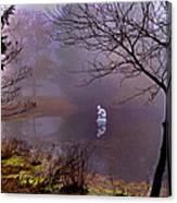 Selene Moon Goddess Fogged In Canvas Print