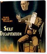 Self Decapitation Canvas Print