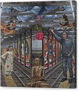 Self Portrait At 14th Street Station Canvas Print