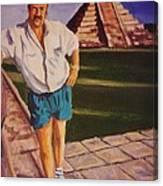 Self Portrait At Chichen Itza Canvas Print