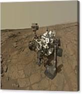 Self-portrait Of Curiosity Rover Canvas Print