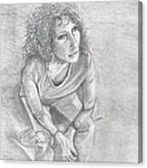 Self Portrait Of Natalie Trujillo Canvas Print