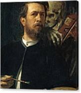 Self Portrait With Death Canvas Print