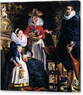 Self-portrait With Family Canvas Print