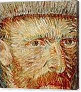 Self-portrait With Hat Canvas Print
