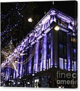 Selfridges London At Christmas Time Canvas Print