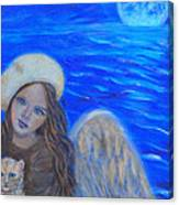 Selina Little Angel Of The Moon Canvas Print