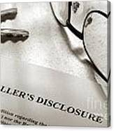Seller Property Disclosure Canvas Print