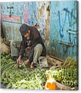 Selling Herbs In The Souk Canvas Print