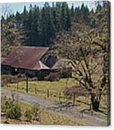 Selma Barn And Country Road Canvas Print