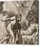 Semele Is Consumed By Jupiters Fire Canvas Print
