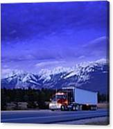 Semi-trailer Truck Canvas Print