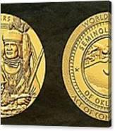 Seminole Nation Code Talkers Bronze Medal Art Canvas Print