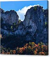 Seneca Rocks Canvas Print