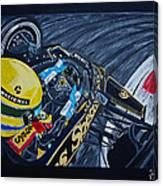 Senna Onboard Canvas Print