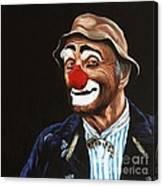 Senor Billy The Hobo Clown Canvas Print