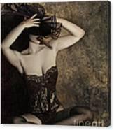 Sensuality In Sepia - Self Portrait Canvas Print