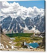 Sentinel Pass And Larch Valley Canvas Print