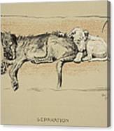 Separation, 1930, 1st Edition Canvas Print