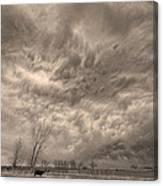 Sepia Angry Skies Canvas Print